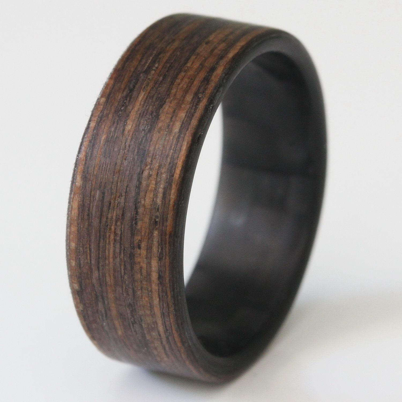 New Bocote Wood Rings Exotic Hard Wood Wedding Band w// Comfort Fit