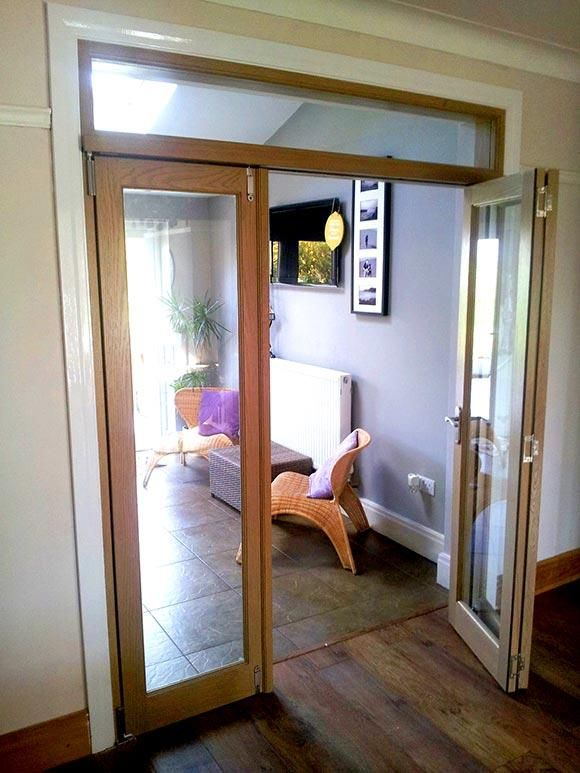Two Open Doors of the Vufold Inspire 6ft Internal Room Divider Doors Preston : doors preston - pezcame.com