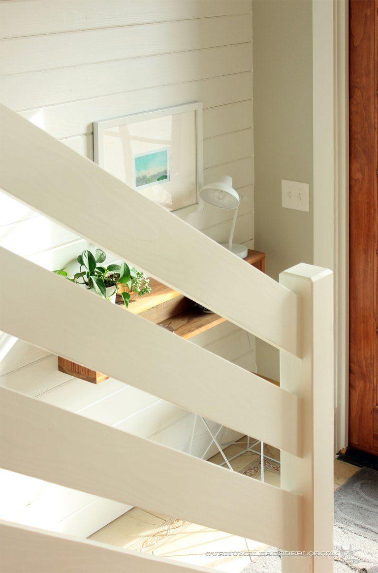 Horizontal-Railing-Angle-at-Entry | Diy stair railing ...
