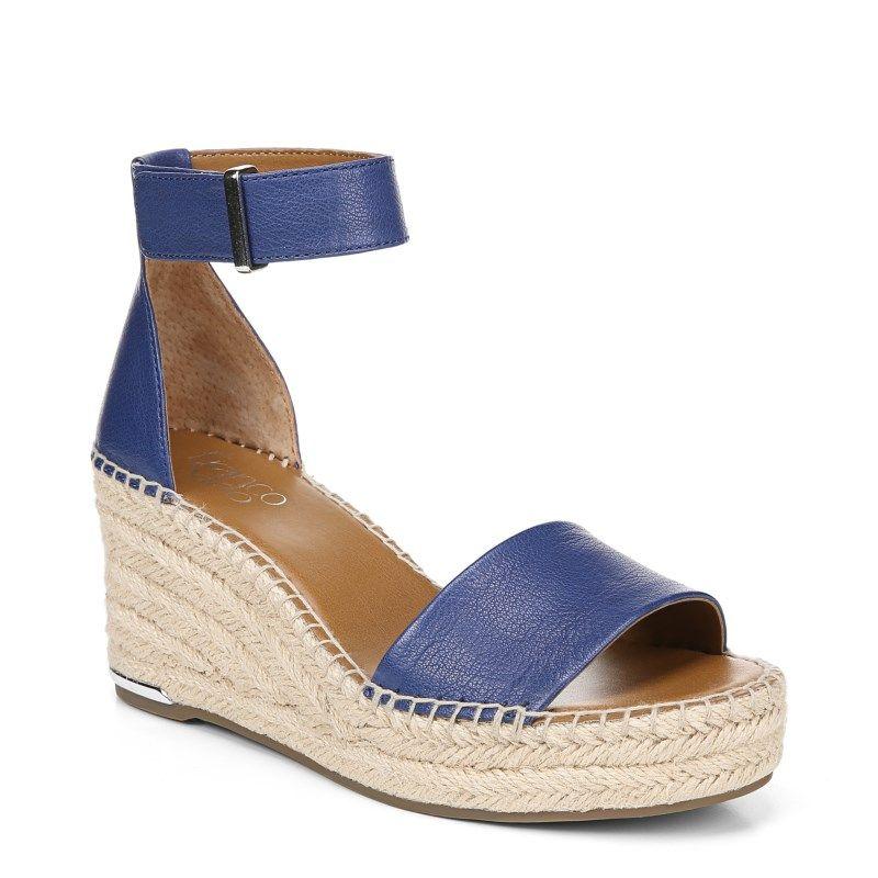 1f846198ff1 Franco Sarto Women's Clemens Espadrille Wedge Sandals (Cobalt ...