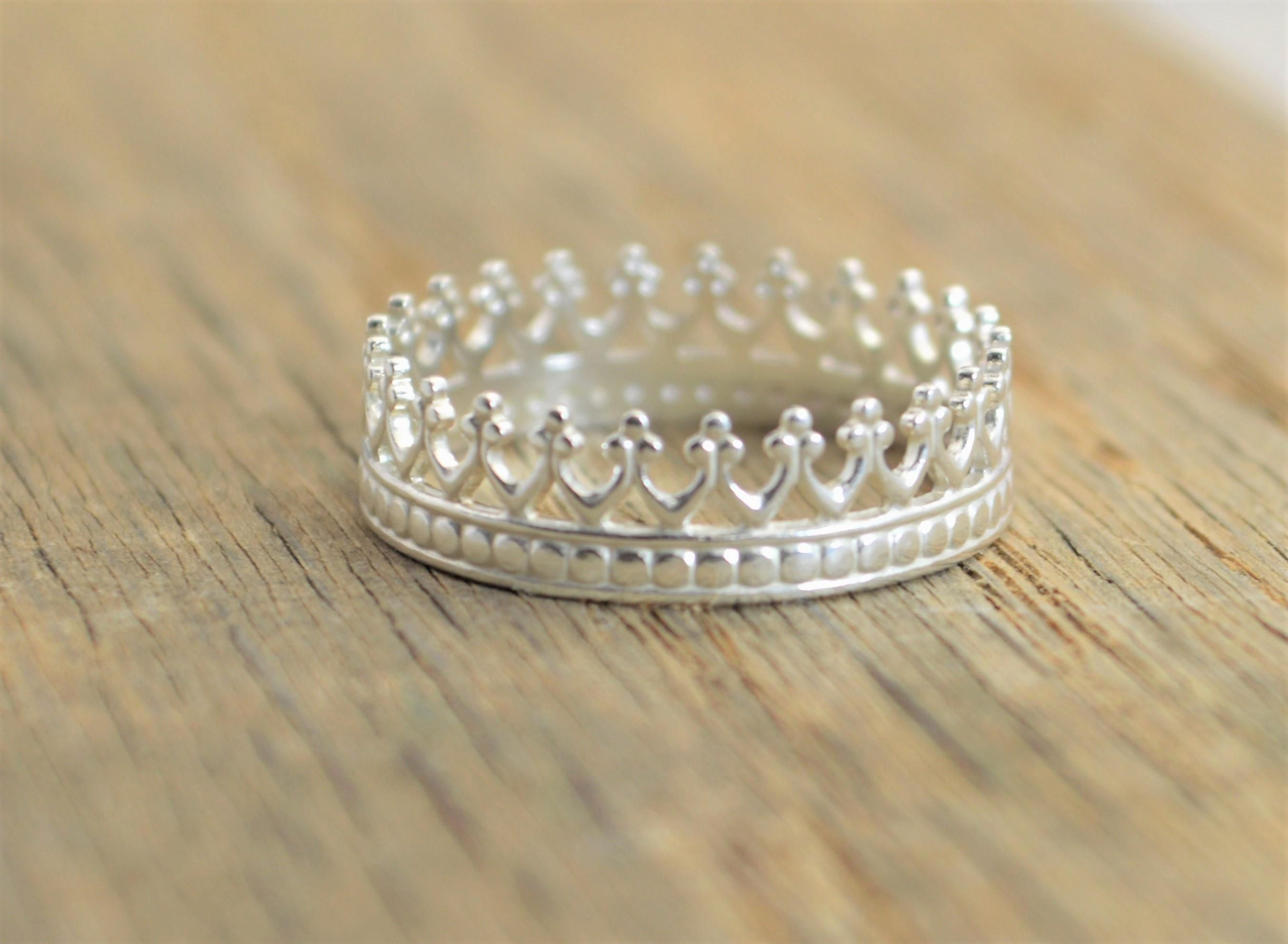 Queen Crown Rings Tiara ring, Real gold jewelry, Silver