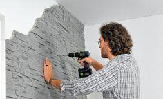 Kunststoff Wandverkleidung Selbst De Wandverkleidung Steinoptik Steinwand Wohnzimmer Steinwand Tapete