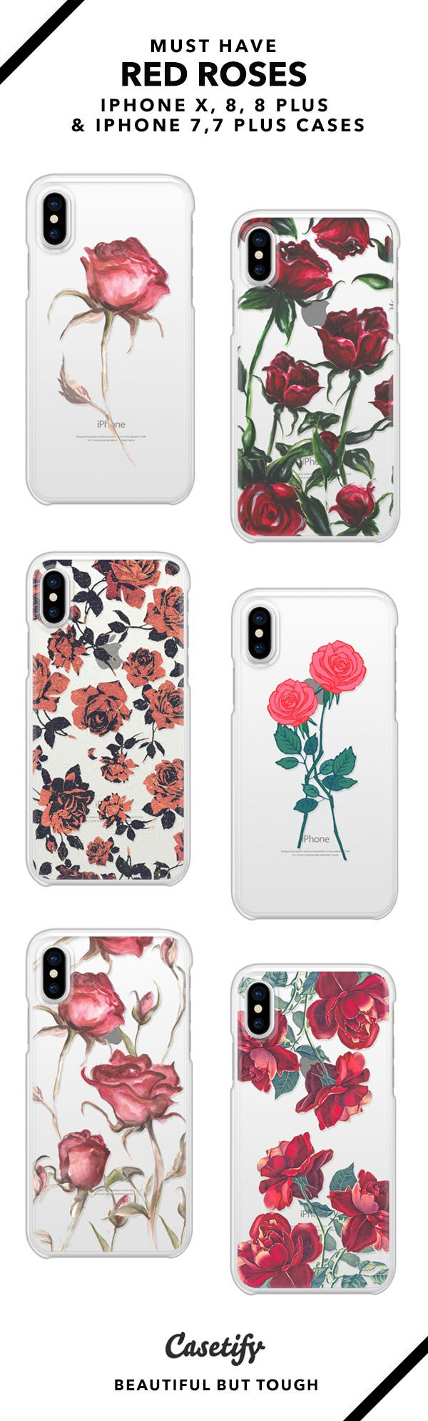 iphone 8 case red rose