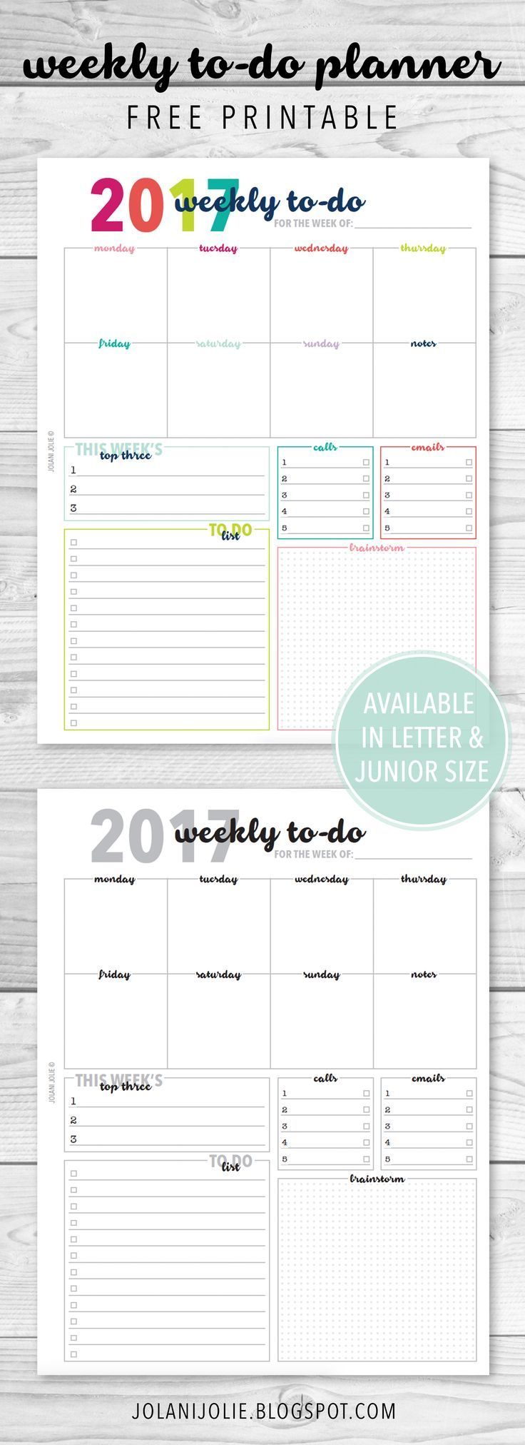 free printable weekly to do planner insert printable planner