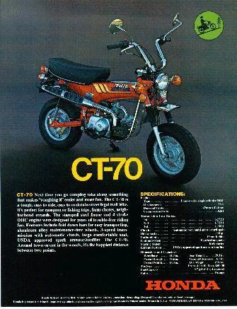 Motor Company Honda CT 70 USA