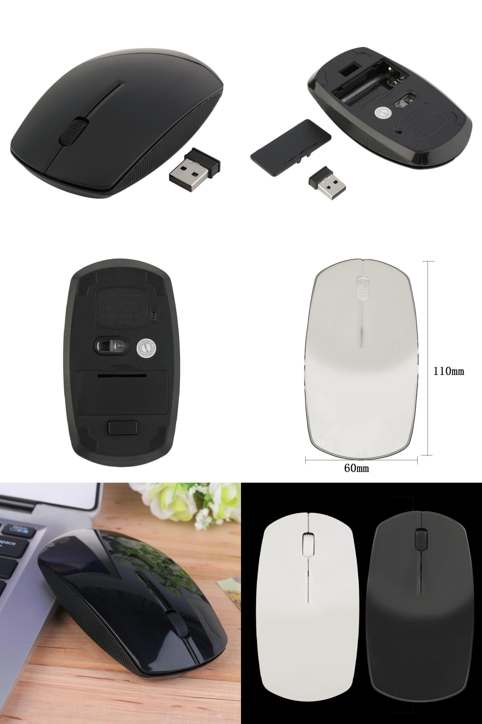 Visit to Buy] 2 4G Wifi mouse USB Wireless and mice 1600 DPI