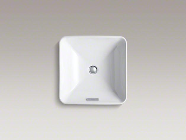 K 2661 Vox Square Vessel Sink Kohler Above Counter Bathroom Sink Vessel Sink Sink