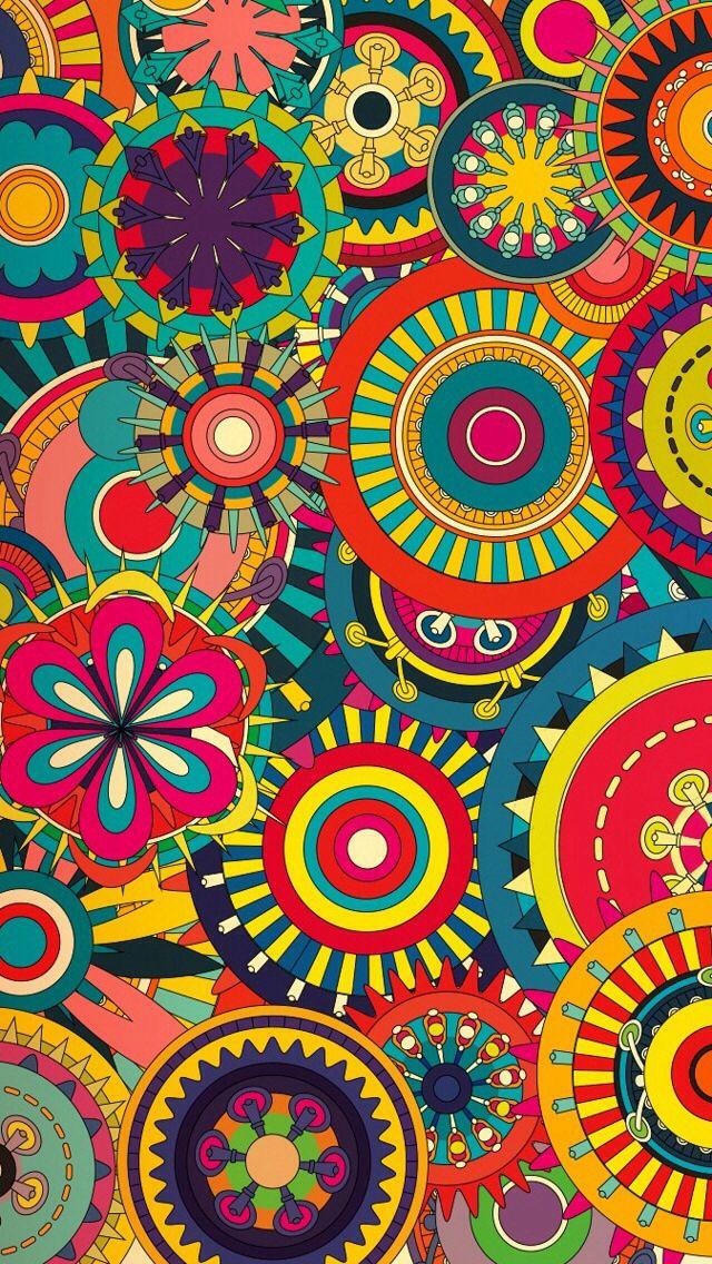Bright designs Hippie wallpaper, Trippy wallpaper