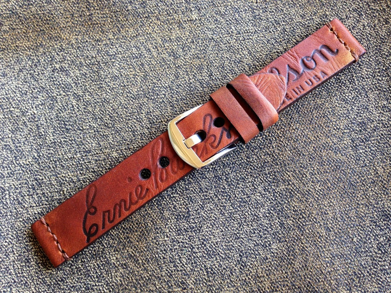 20mm Ernie Banks Vintage Baseball Glove Watch Strap Leather Watch Strap Watch Strap Vintage Baseball Gloves