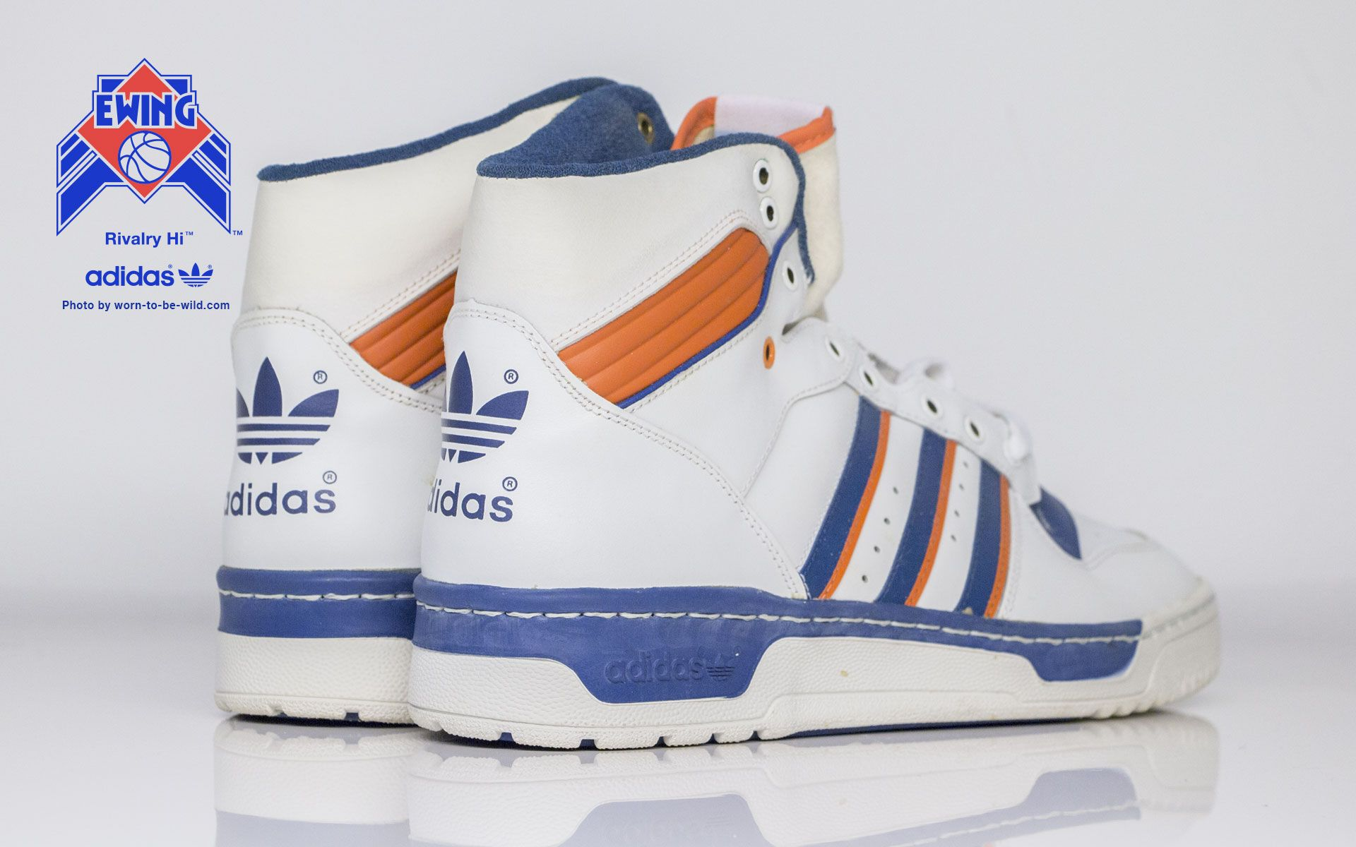 ed338f35cc132 WORN TO BE WILD » Adidas Rivalry Hi Ewing New York Knicks | High Top ...