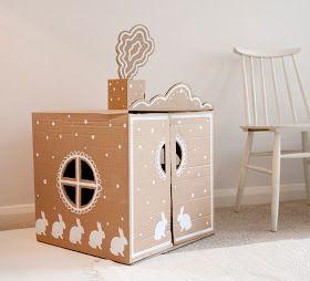 UKKONOOA: Pahvimaja / DIY Cardboard Box House