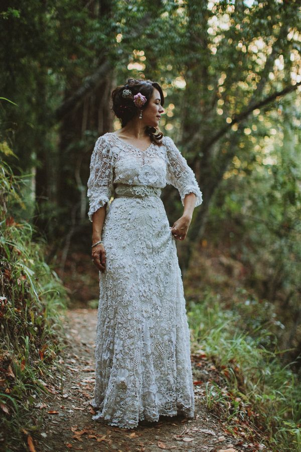 A Vintage Edwardian Crochet Dress For A Californian Wedding in the ...