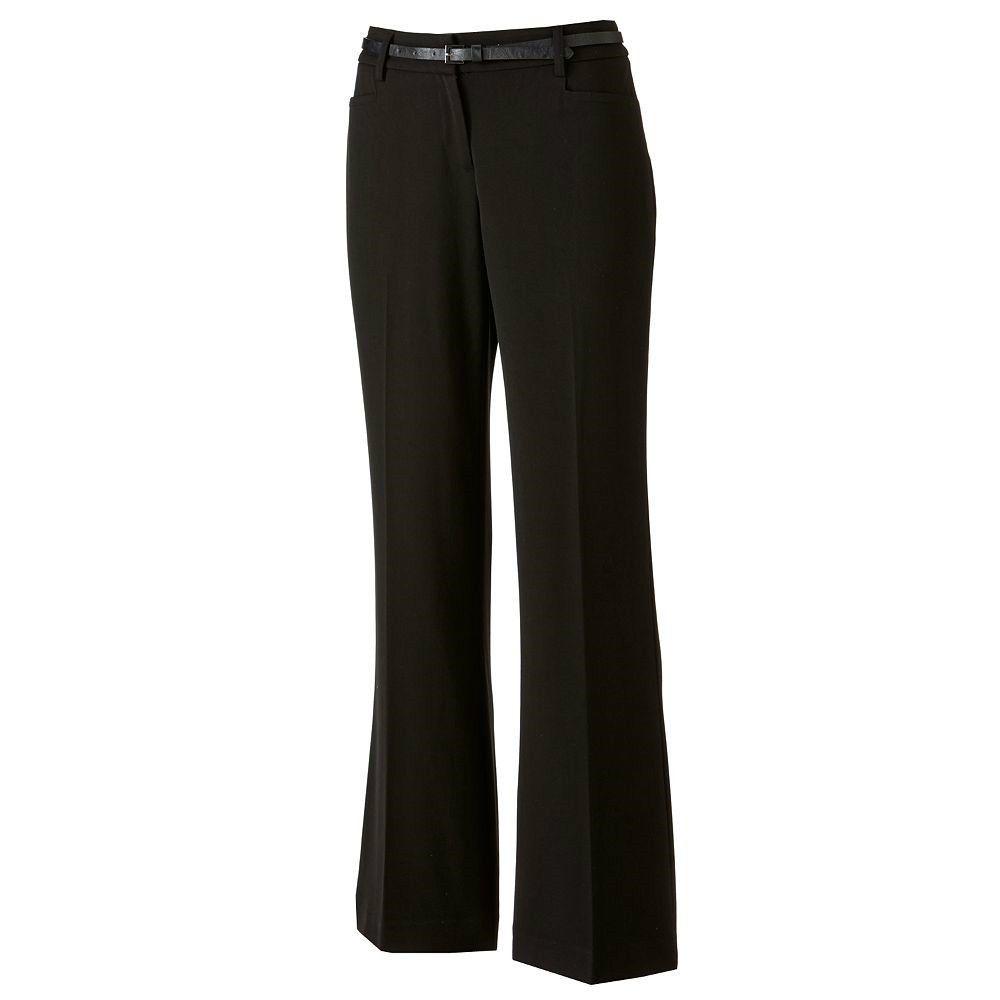 Nwt Apt 9 Black Dress Slacks 4 Tall Career Pants W Belt New Womens 4 Long 4l 4t Brand New With Tags Women Black Dress Slacks Slacks Outfit Trouser Pants Women [ 1000 x 1000 Pixel ]