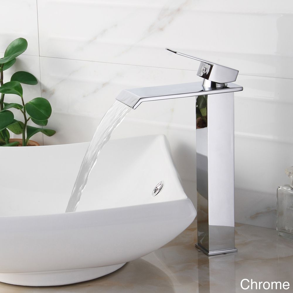 Elite 8816 Single-lever Waterfall Bathroom Sink Faucet | Overstock ...
