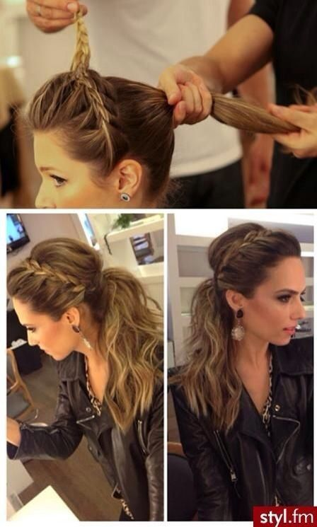 Braided Headband Ponytail!