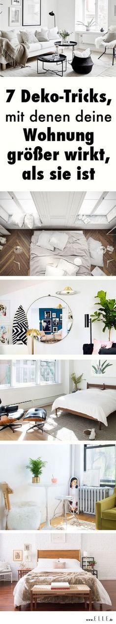7 deko tricks mit denen deine wohnung gr er wirkt als sie ist wohnung pinterest room. Black Bedroom Furniture Sets. Home Design Ideas