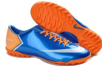 Christian Louboutin shoes on sale Nike Mercurial Vapor X TF Boots - Volt  Blue White Orange New Soccer Shoes 2013 [Christian Louboutin Outlet - Nike  ...
