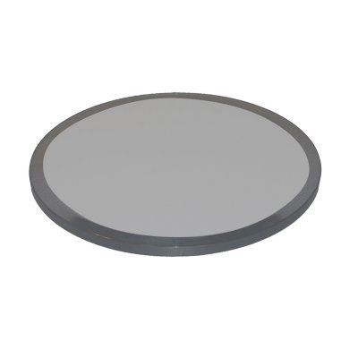 Fab Glass And Mirror Round Grey 0.5 In. Thick Beveled Edge Tempered Glass  Table Top