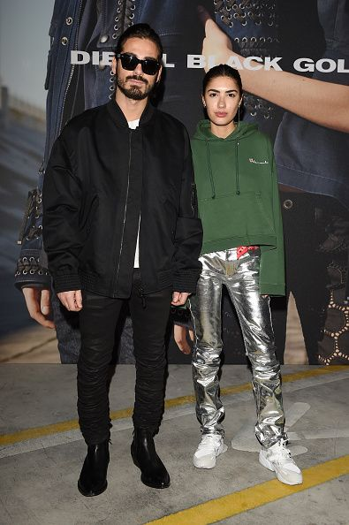 Giotto Calendoli and Patricia Manfield attend the Diesel Black Gold show during Milan Fashion Week Fall/Winter 2016/17 on February 26 2016 in Milan...