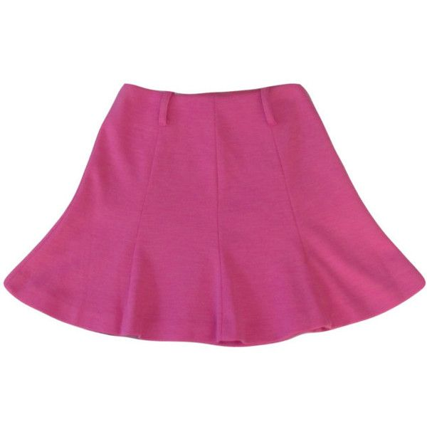 Pink Circle Skirt 1990s Skater Hot Pink High Rise High Waist Flare... (6.690 CLP) ❤ liked on Polyvore featuring skirts, bottoms, silver, women's clothing, circle skirt, silver skater skirt, flared skirt, pink skirt and flared skater skirt
