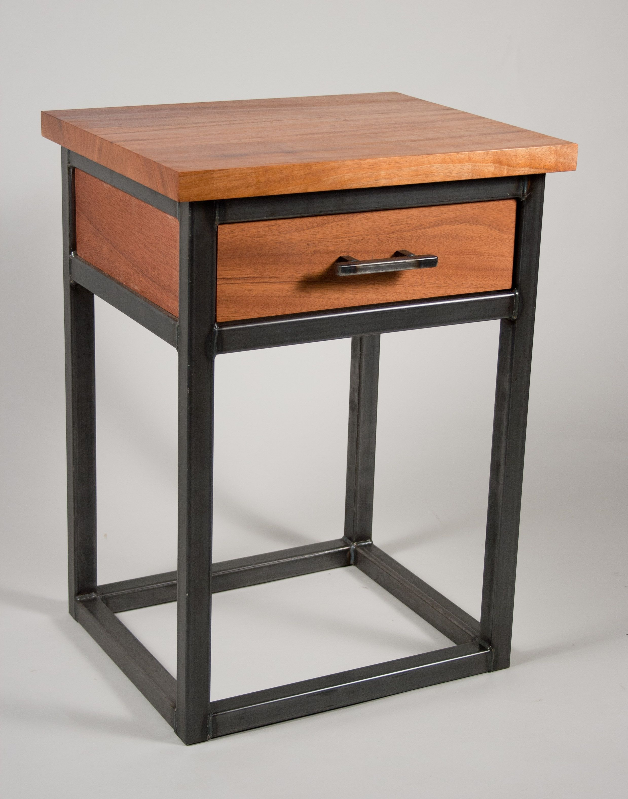 Metal And Wood Bedside Tables With Images Metal Furniture