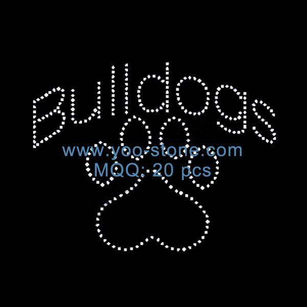 foto de Sale Newest Hot Fix Heat Transfer, Bulldog Paw Rhinestone Motif (с ...