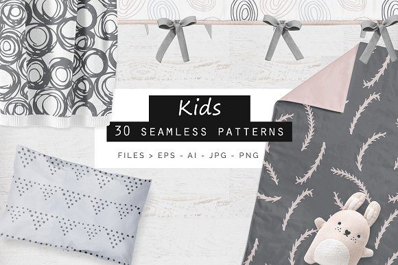 Kids Seamless Patterns by Youandigraphics on @creativemarket