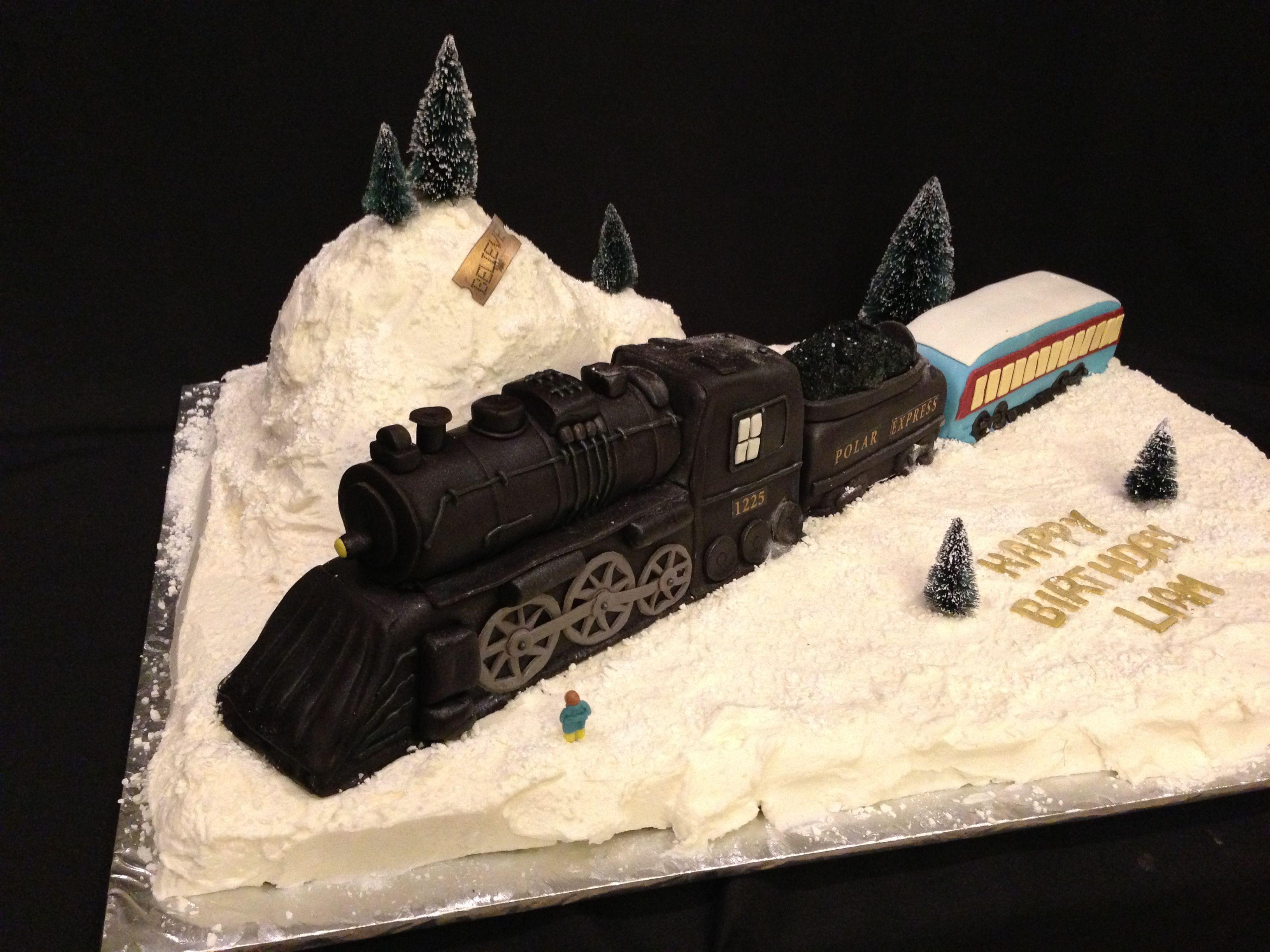 Excellent Polar Express Cake Polar Express Birthday Cake Polar Express Funny Birthday Cards Online Fluifree Goldxyz