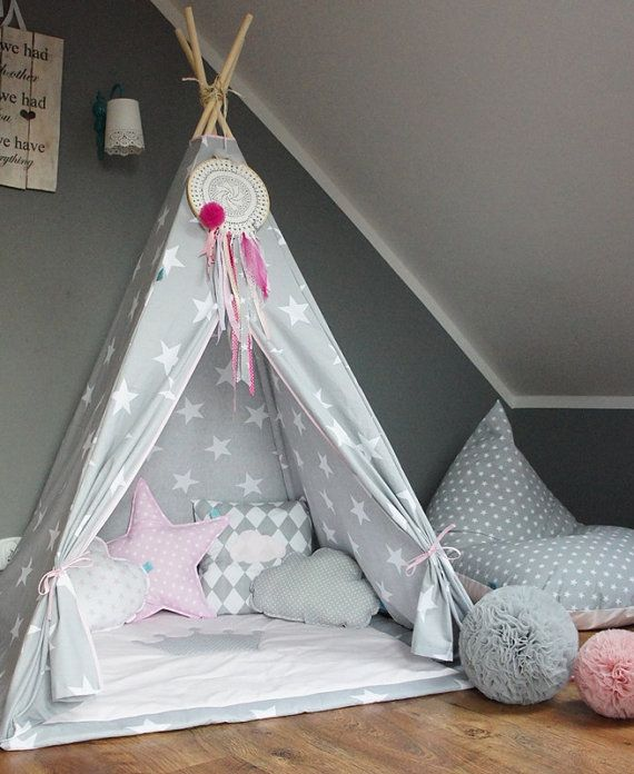 teepee set kids play tent tipi kid play teepee child teepee wigwam zelt tente kids lamp reading. Black Bedroom Furniture Sets. Home Design Ideas