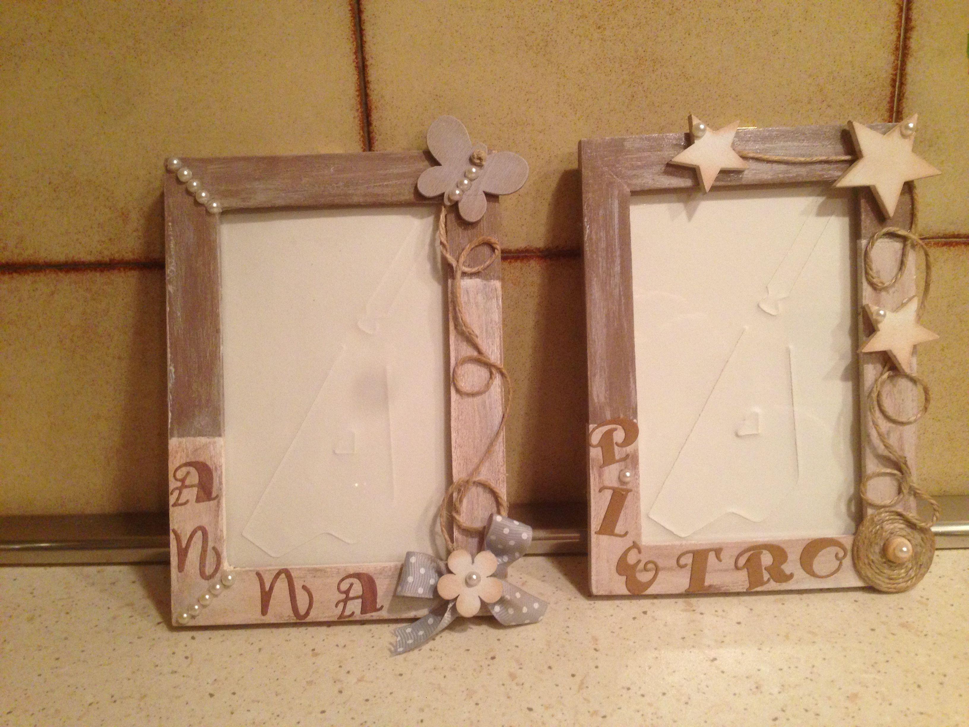 Cornici Bambini ~ Cornici ikea rivisitate regalo di compleanno per due gemelli un