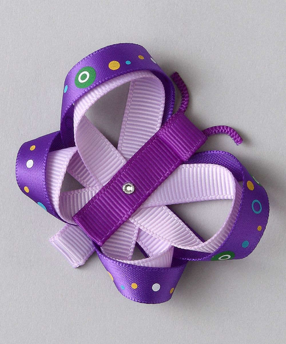 Do --- Look what I found on #zulily! Purple Butterfly Clip by Bubbly Bows #zulilyfinds