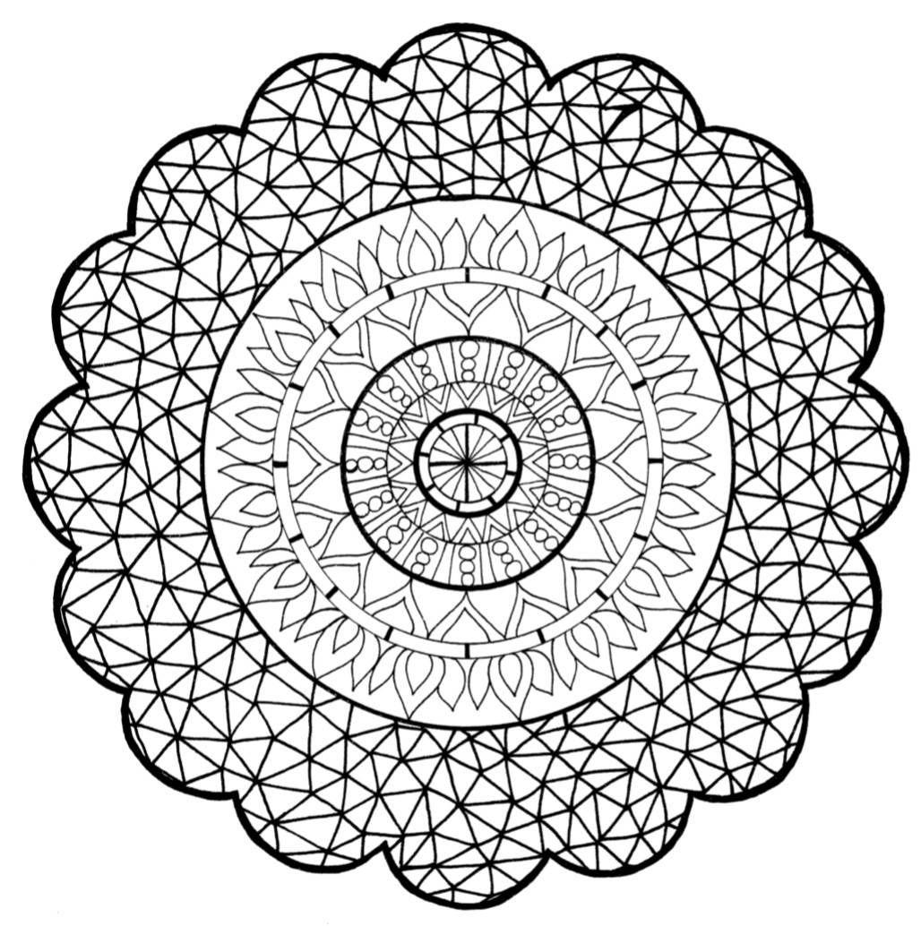Zen Mandala Flower - PDF Coloring Page | Coloring pages ...