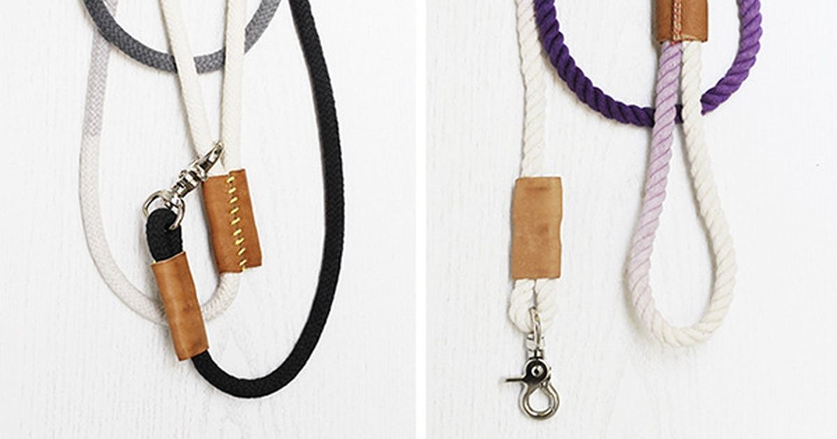 How To Make a Modern DipDyed Rope Dog Leash (With images
