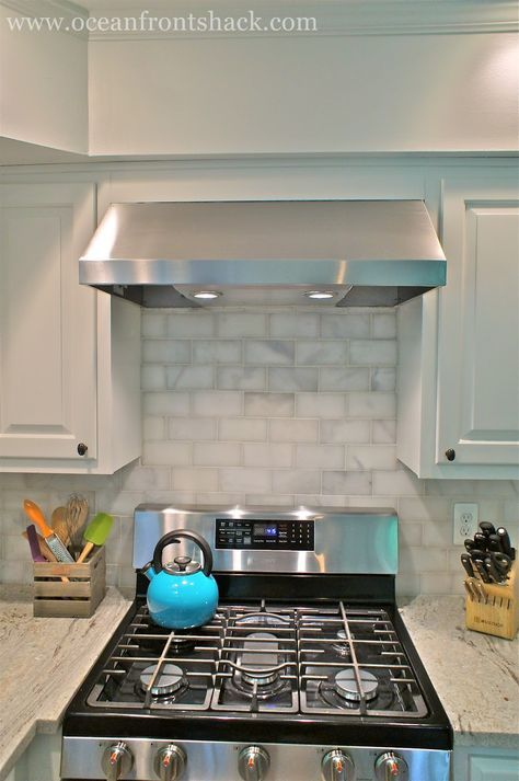 Replacing Microwave With Range Hood Replace A Built In Microwave With A Stylish Range Hoo Budget Kitchen Makeover Budget Kitchen Remodel Kitchen Diy Makeover