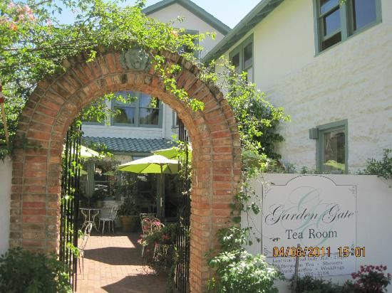 Garden Gate Tea Room Entrance Located In Mt Dora Fl Tea Room