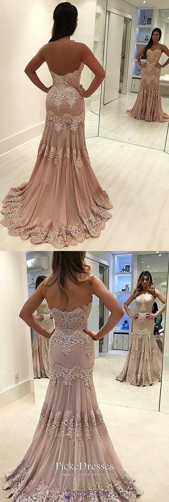 Mermaid prom dresses pink long formal dresses for teenagers