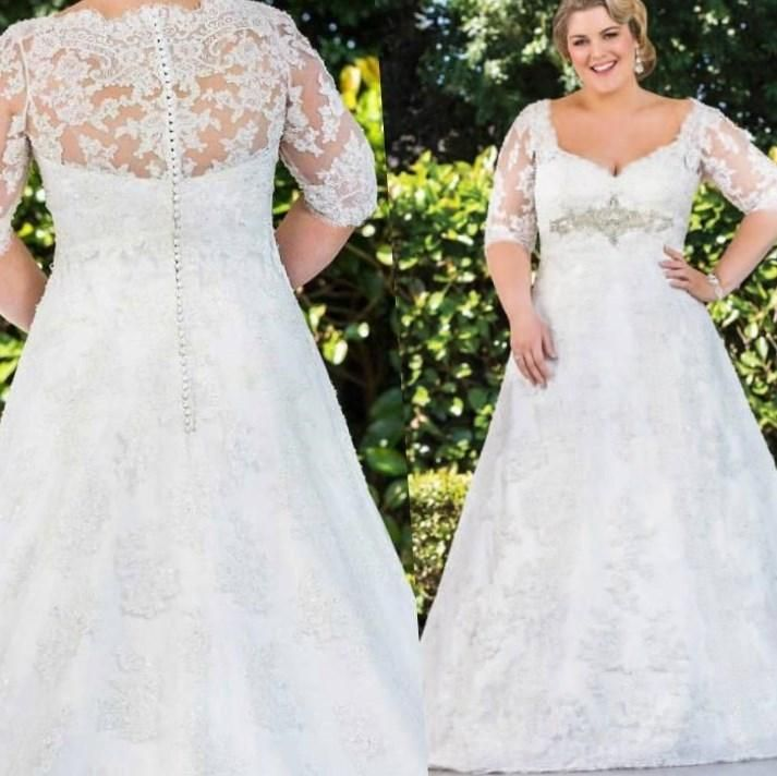 Image detail for dress and plus size wedding gown great for Wedding dresses for thick brides