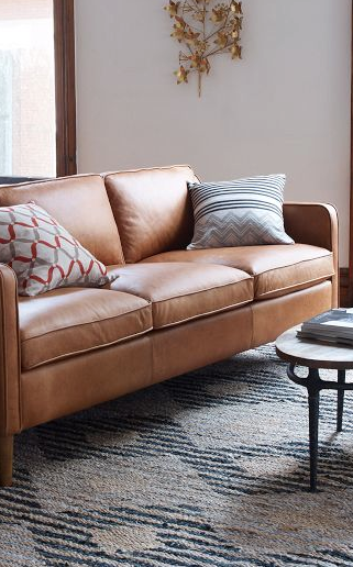 brown leather sofa on legs vintage sofas pin by luxefinds com couch i am currently coveting the hamilton at west elm slim sleek paired with a light