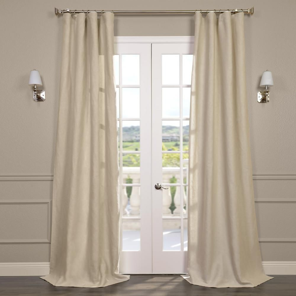Exclusive Fabrics Furnishings Birch Tan Linen Sheer Curtain 50 In W X 120 In L Half Price Drapes Drapes Curtains Home