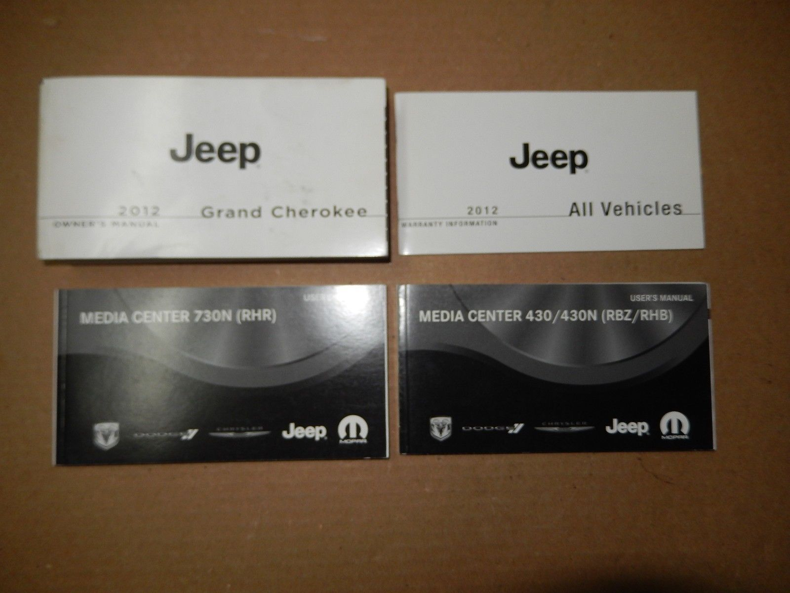 2012 JEEP GRAND CHEROKEE OWNERS MANUAL WITH NAVIGATION