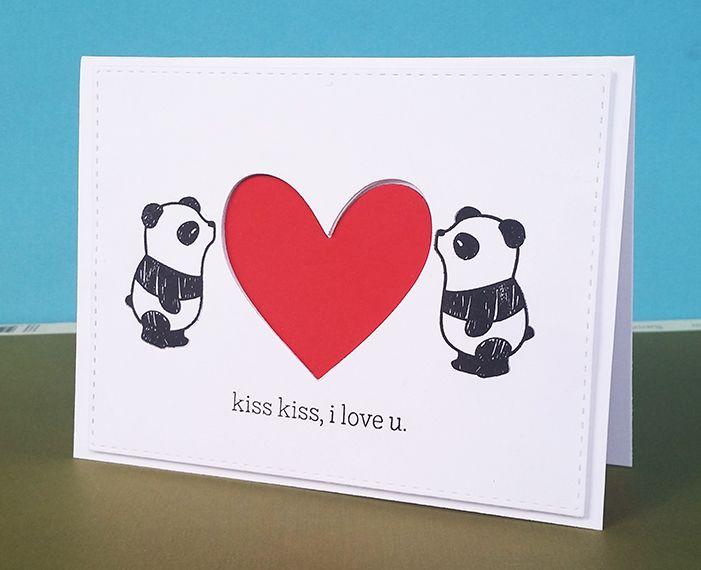 Panda Love Mama Elephant Pandamonium Stamp Set Panda Card – Elephant Valentines Card