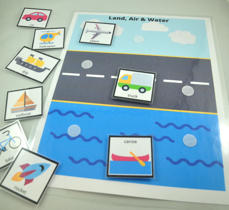 Land Air Amp Water Transportation Worksheet Transportation