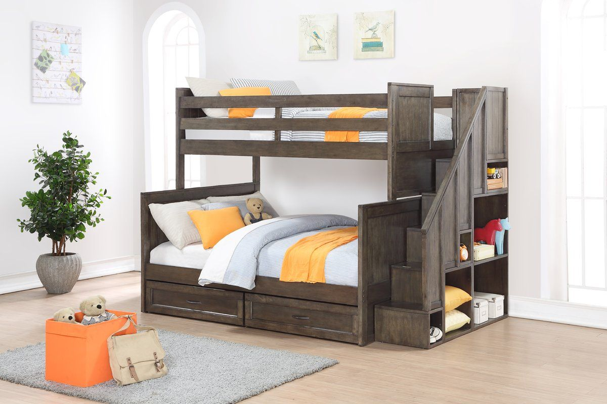 Homemade twin loft bed  Lauri Twin Over Full Bunk Bed with Drawers  Full bunk beds Bunk