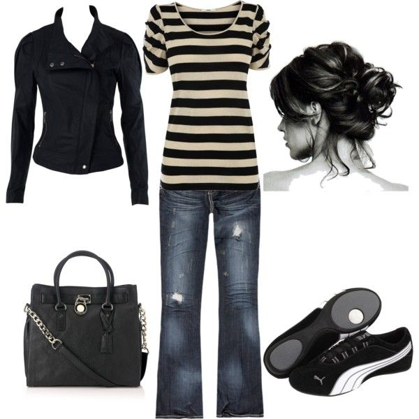 Sporty Casual, created by amyjoyful1.polyvore.com .... I can totally see myself wearing this. :-)