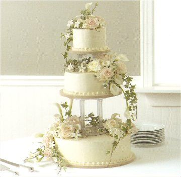 Floral Wedding Decorating Cakes