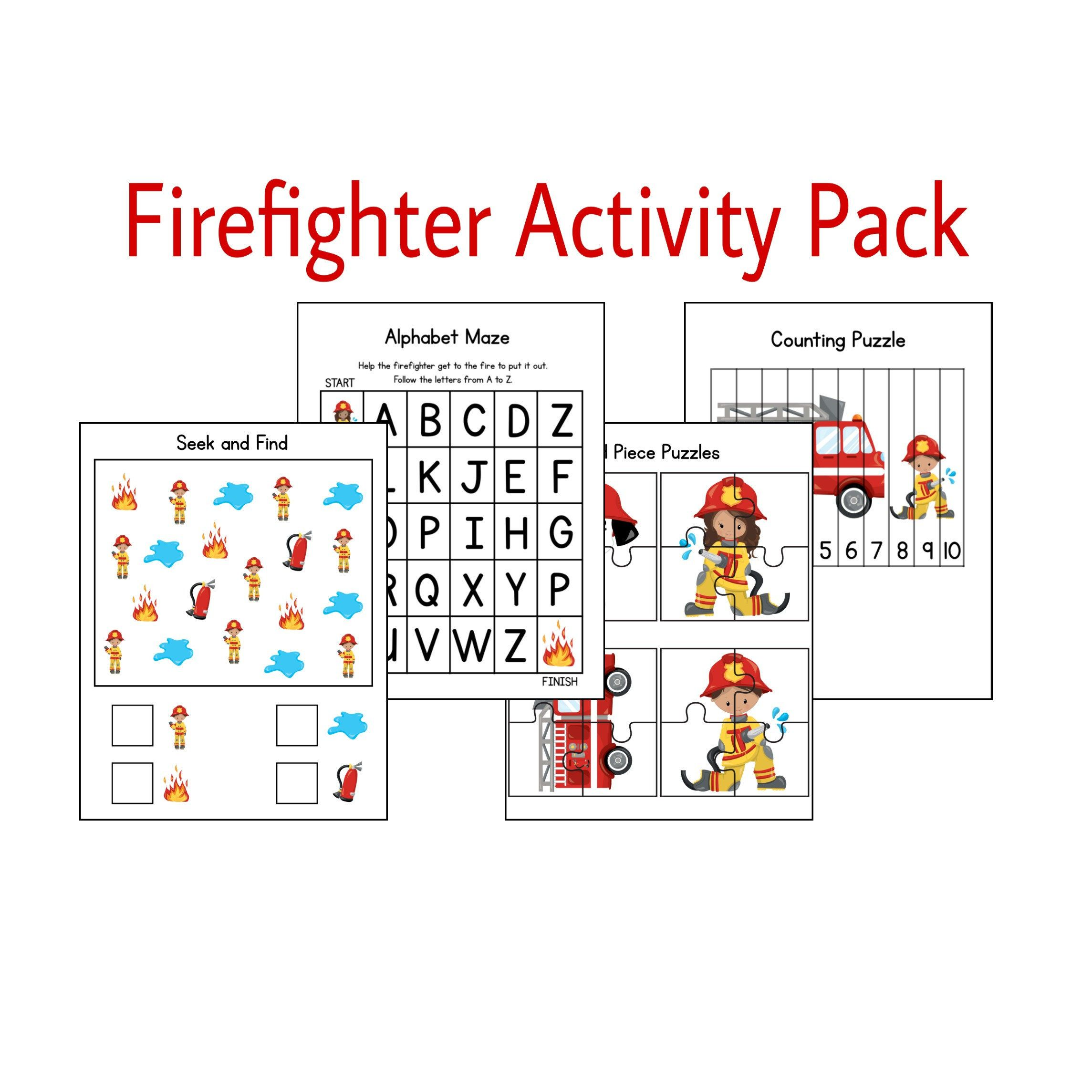 Firefighter Activities Learning Games Printable