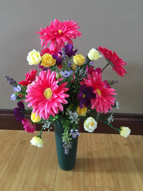 Cemetery Flower Arrangement, Cemetery Flowers, Cemetery
