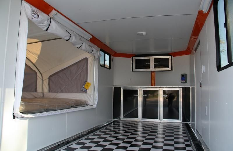 Pop Out Tent | Enclosed trailers, Cargo trailer camper ...