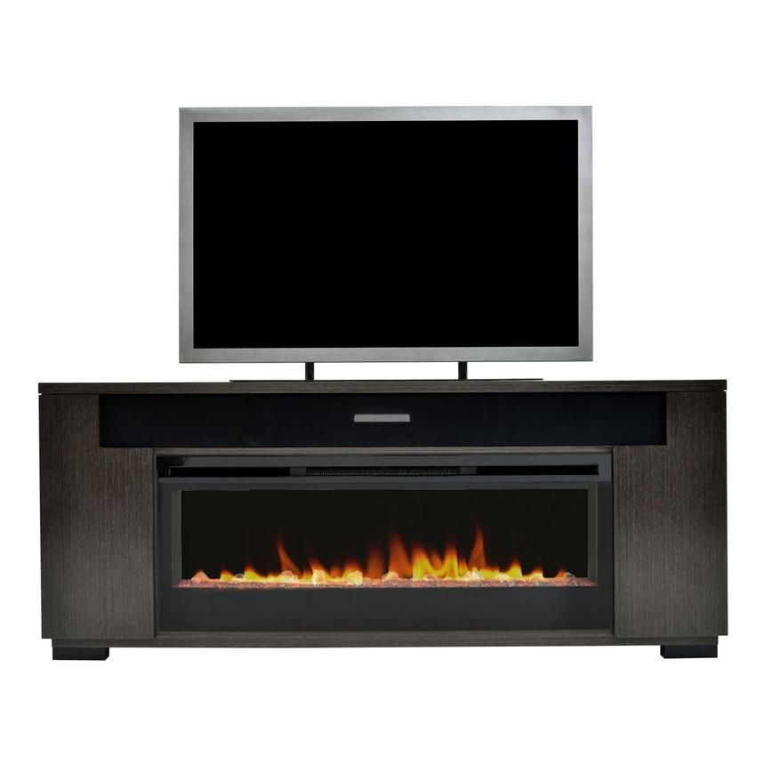 Mile Brown Faux Fireplace W Speakers Faux Fireplace Best