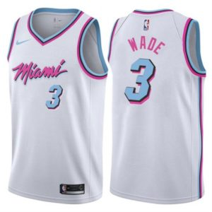 Dwayne Wade 3 Miami Vice City Edition Mens Stitched Jersey White Jerseys For Cheap In 2020 Miami Vice Miami Jersey